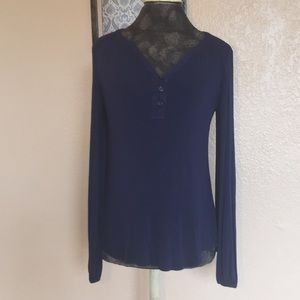 Lilly Pulitzer Top XS Navy Long Sleeve